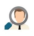 Find a job concept vector image