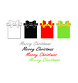 merry christmas set with gift boxes vector image