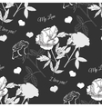 Seamless pattern with rose13 vector image