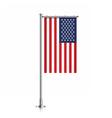 USA flag hanging on a pole vector image