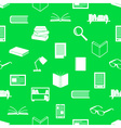 reading books theme set of icons seamless pattern vector image