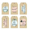 Set of Christmas Gift Tags with Hand writting vector image