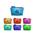 home folder vector image