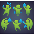 green people and blue water vector image vector image