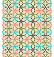 Retro color snowflake seamless pattern vector image vector image