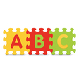 ABC written with alphabet puzzle vector image vector image