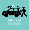 Car Alarm Piracy Prevention Symbol vector image