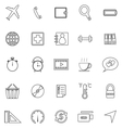 Application line icons on white background Set 2 vector image