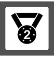 Second medal icon from Award Buttons OverColor Set vector image