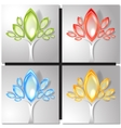 Set of four colorful trees vector image