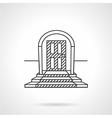 Line icon entrance door vector image