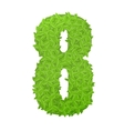 Number 8 consisting of green leaves vector image