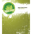 Eco label with grunge background vector image