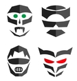 Set of hero mask Superhero costume accessories vector image