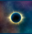 astronomy effect solar eclipse abstract starry vector image