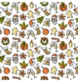 Christmas seamless pattern color vector image