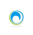 circle abstract water wave logo vector image