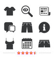 clothes signs t-shirt and pants with shorts vector image