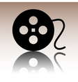 Film circular icon on white background vector image