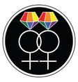 Gay women wedding symbols vector image