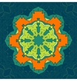 Green and Orange Mandala Decor for your vector image