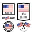 Made in USA label set national flag vector image
