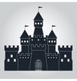 medieval castle silhouette vector image