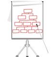 presentation Flip chart on tripod vector image