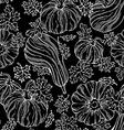 seamless chalk pumpkin pattern vector image