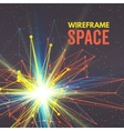 Wireframe mesh polygonal element Star with vector image