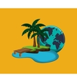 island with vacation travel icons image vector image vector image