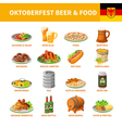 1602i122129Pm005c20oktoberfest beer food set vector image
