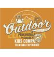 outdoor wild camp vector image