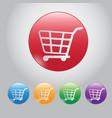 design button buy online web botton and icon cart vector image