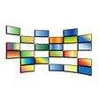 color tv screens vector image