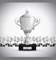 set of trophies vector image vector image