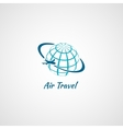 Airplane icon globe vector image vector image