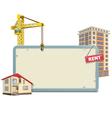 Homebuilding Board vector image