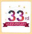 colorful polygonal anniversary logo 2 033 vector image vector image