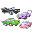 cute cartoon car characters vector image