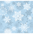 seamless snowflakes background vector image vector image