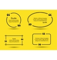 quote shadow yellow background vector image vector image