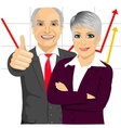 senior business people partners vector image