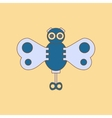 flat icon on background Kids toy butterfly vector image