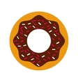 delicious donut isolated icon design vector image