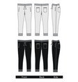 fashion trousers templates vector image