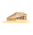 Old majestic temple vector image