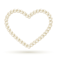 Pearl heart like frame isolated on white vector image