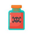 poison bottle flat icon vector image