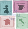 postal stamps 2 vector image